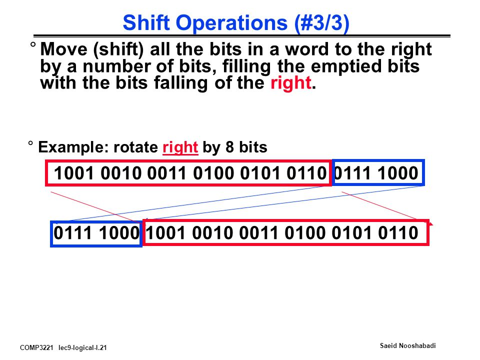 Shift Operations (#3/3)