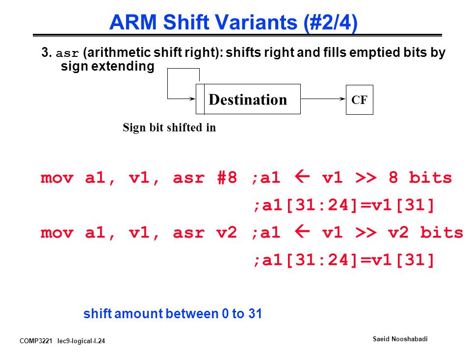 ARM Shift Variants (#2/4)
