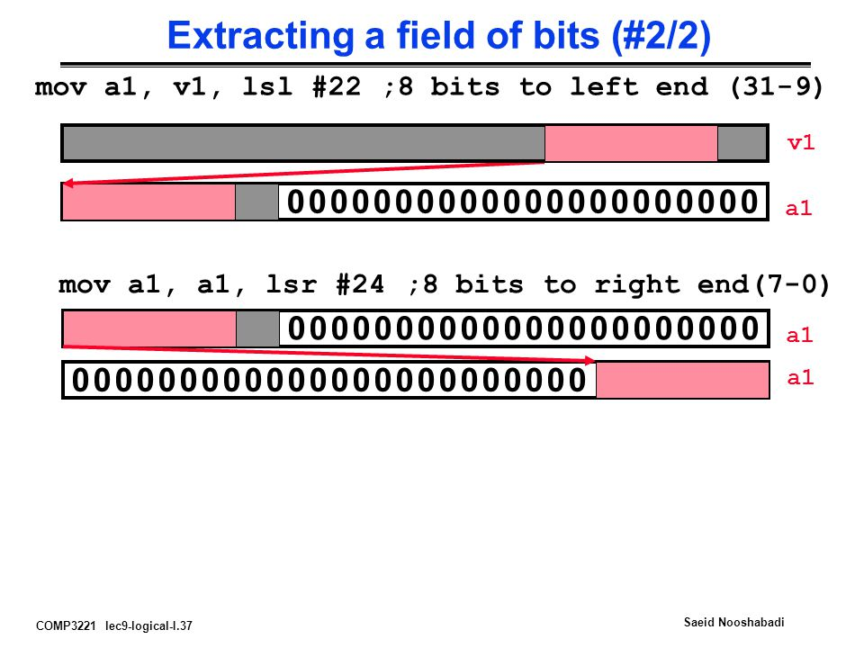 Extracting a field of bits (#2/2)