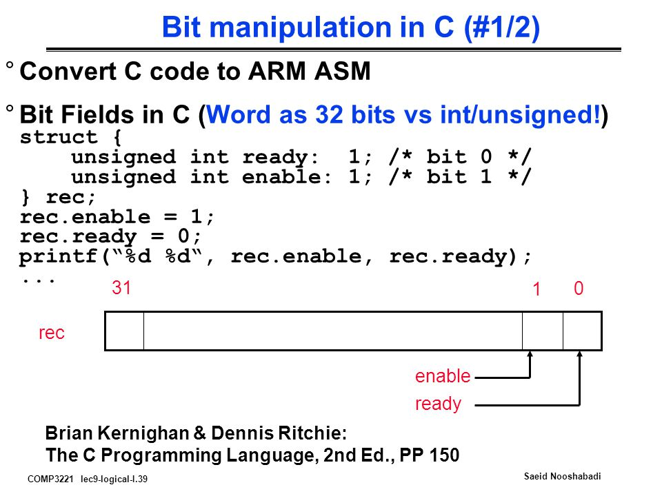 Bit manipulation in C (#1/2)