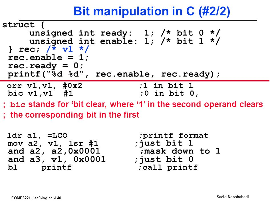 Bit manipulation in C (#2/2)