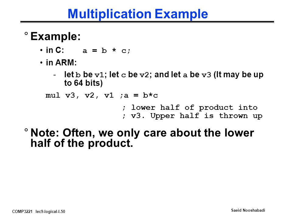 Multiplication Example