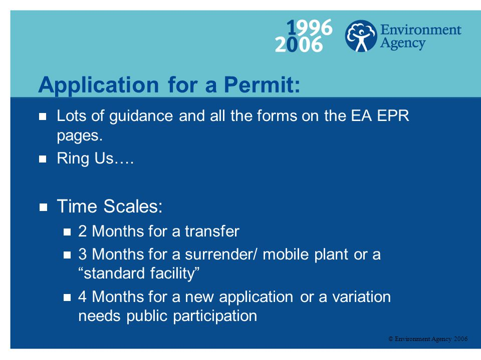 Application for a Permit: