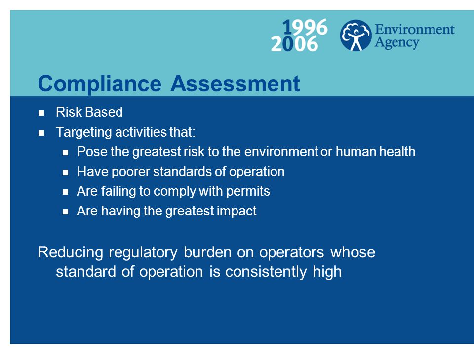 Compliance Assessment