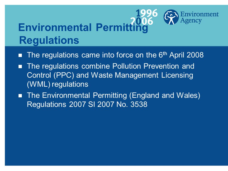 Environmental Permitting Regulations