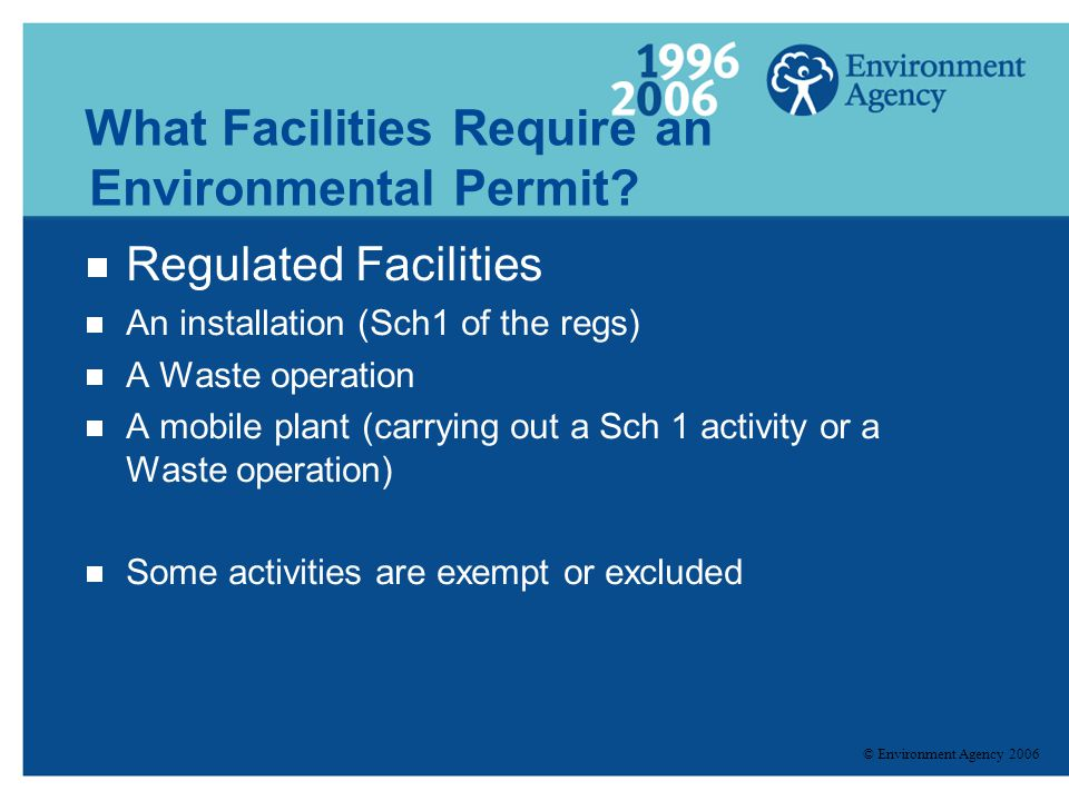 What Facilities Require an Environmental Permit