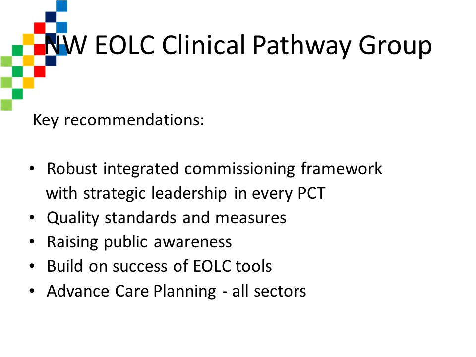 NW EOLC Clinical Pathway Group