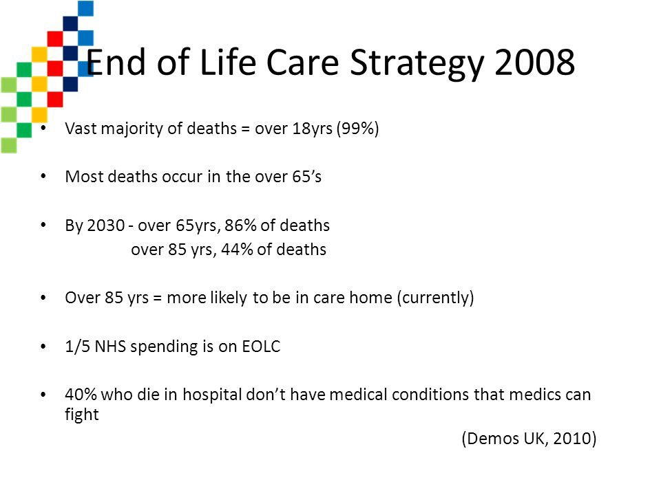 End of Life Care Strategy 2008
