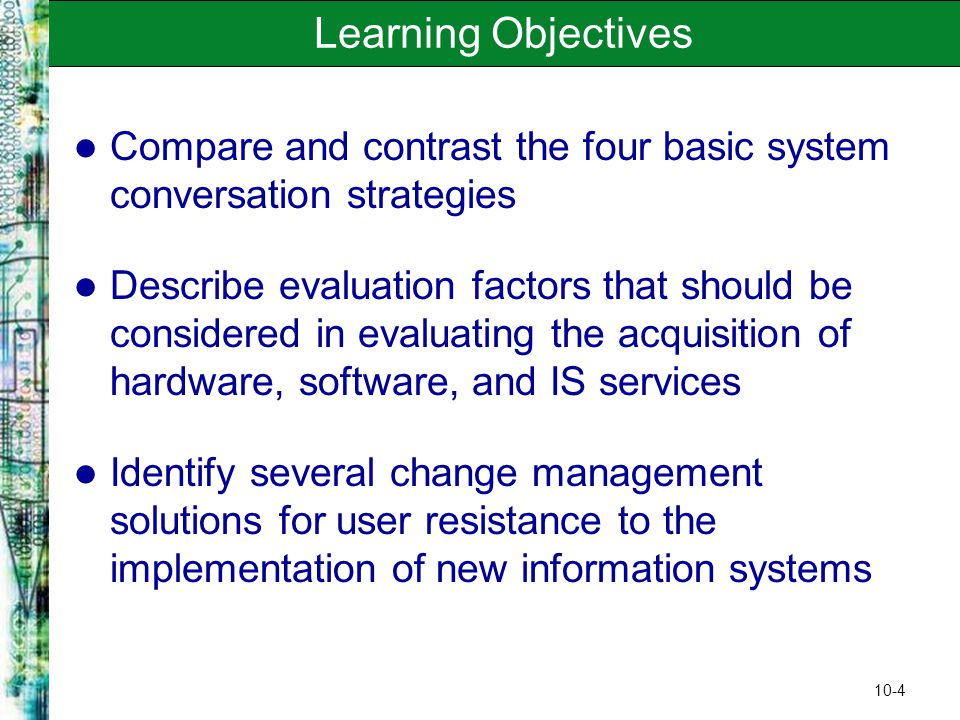 """evaluating change management and system implementation Evaluating implementation and improvement  6 management time and persistance  """"what"""" are we evaluating improvement 2) whether a change."""