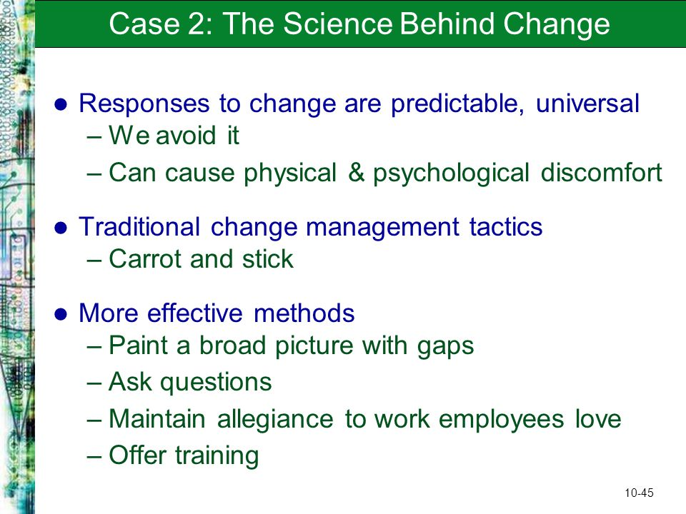 blue cross blue shield and others understanding the science behind change 1 answer to blue cross and blue shield, and others: understanding the science  behind change k evin sparks has been trying to get his staff.