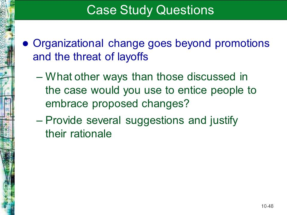 Change management case study with questions
