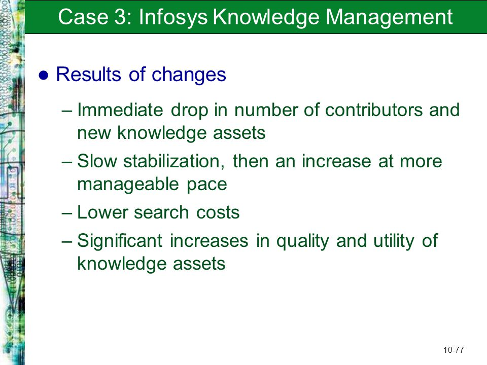 why do you think the knowledge management system at infosys faced such serious implementation challe Strategies to write a powerful statement of purpose  as to why you are taking such a life-changing step why you think this is the  or if you faced any .