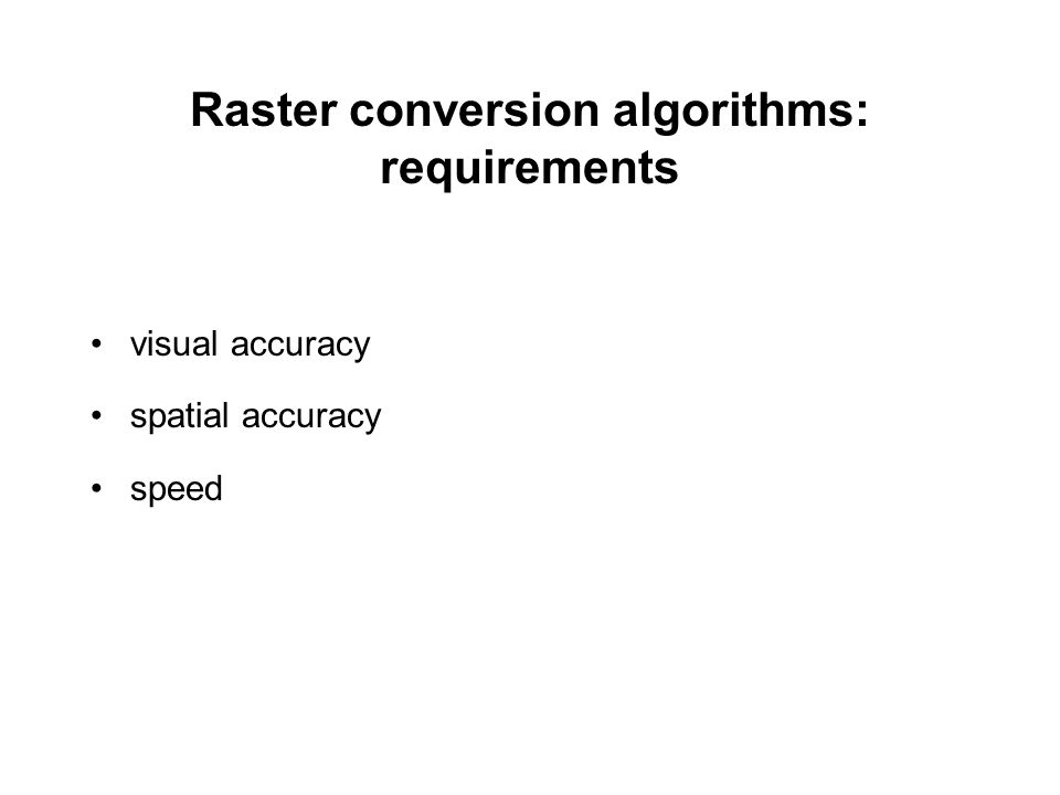 Bresenham Line Drawing Algorithm Visual Basic : Raster conversion algorithms for line and circle ppt