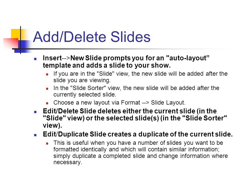 how to add slides in my simple show