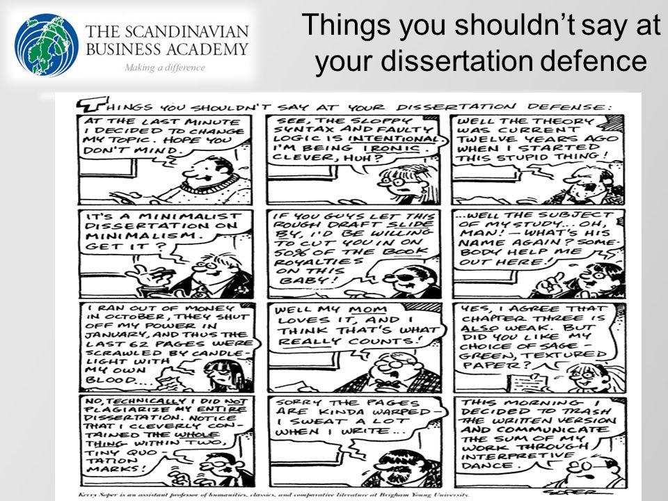 how do you defend your dissertation