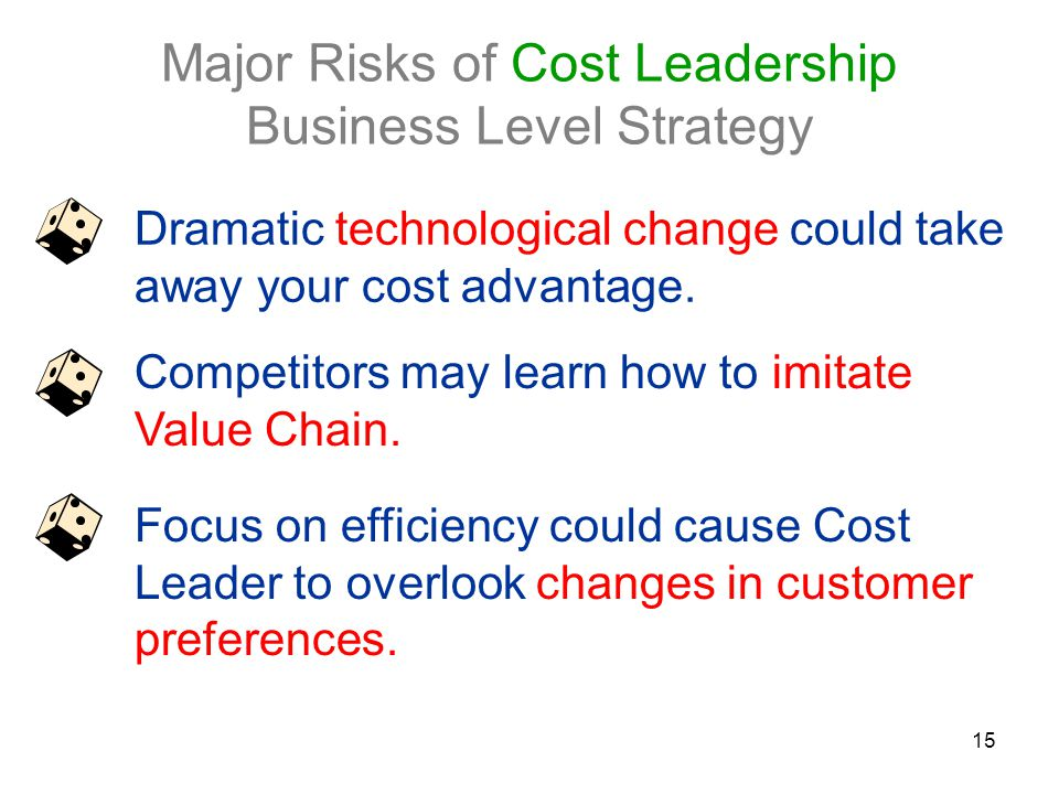 Major Risks of Cost Leadership Business Level Strategy