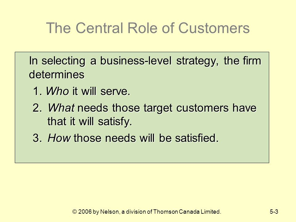 The Central Role of Customers
