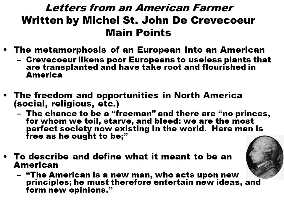 letters from an american farmer Av l- \ letters from an american farmer letters yro/ an american  farmer by j hector st john crevecoeur reprinted from the original edition with  a.