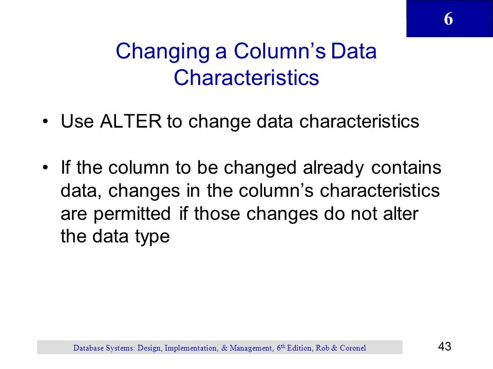 Introduction to structured query language sql ppt download - Alter table change column type ...