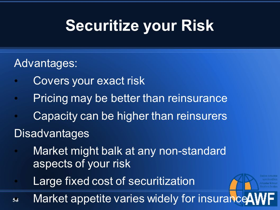 Advantages and disadvantages of securitization
