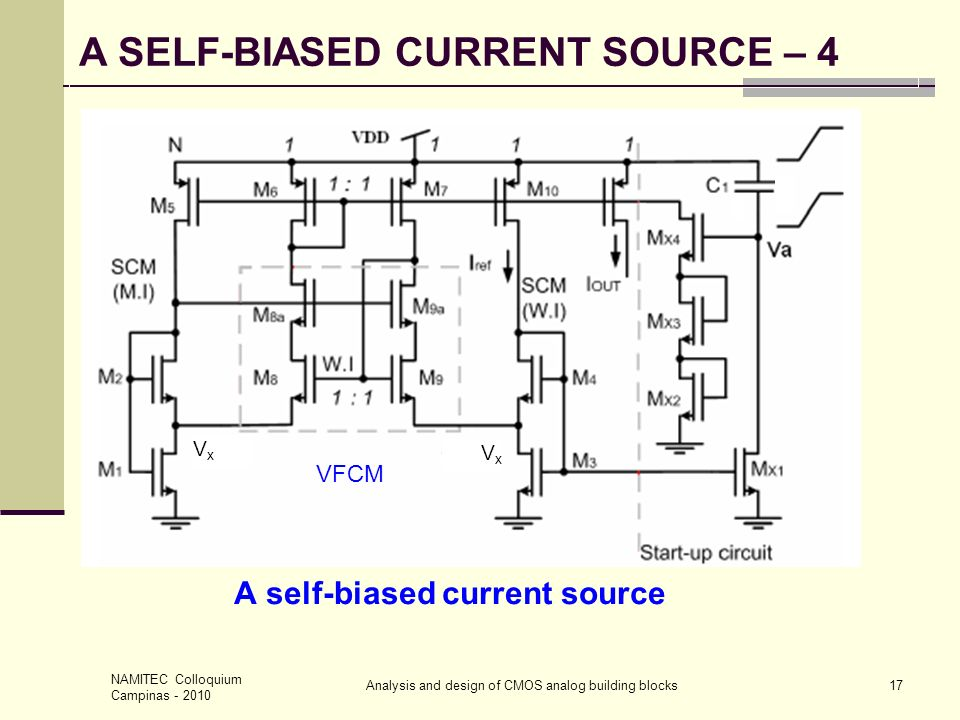 A self-biased current source