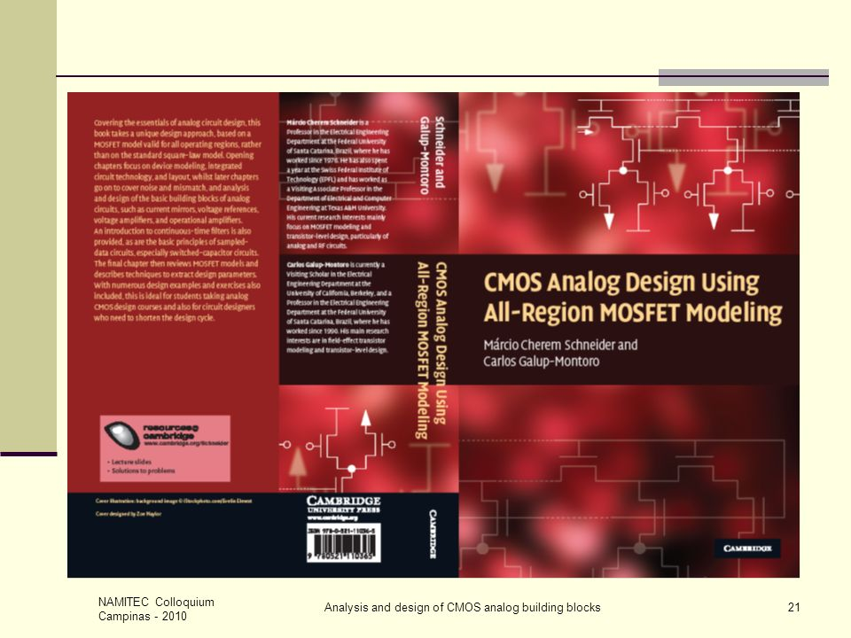 Analysis and design of CMOS analog building blocks