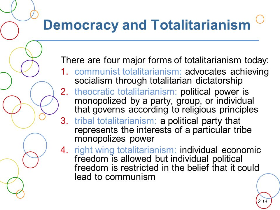 Democracy and Totalitarianism