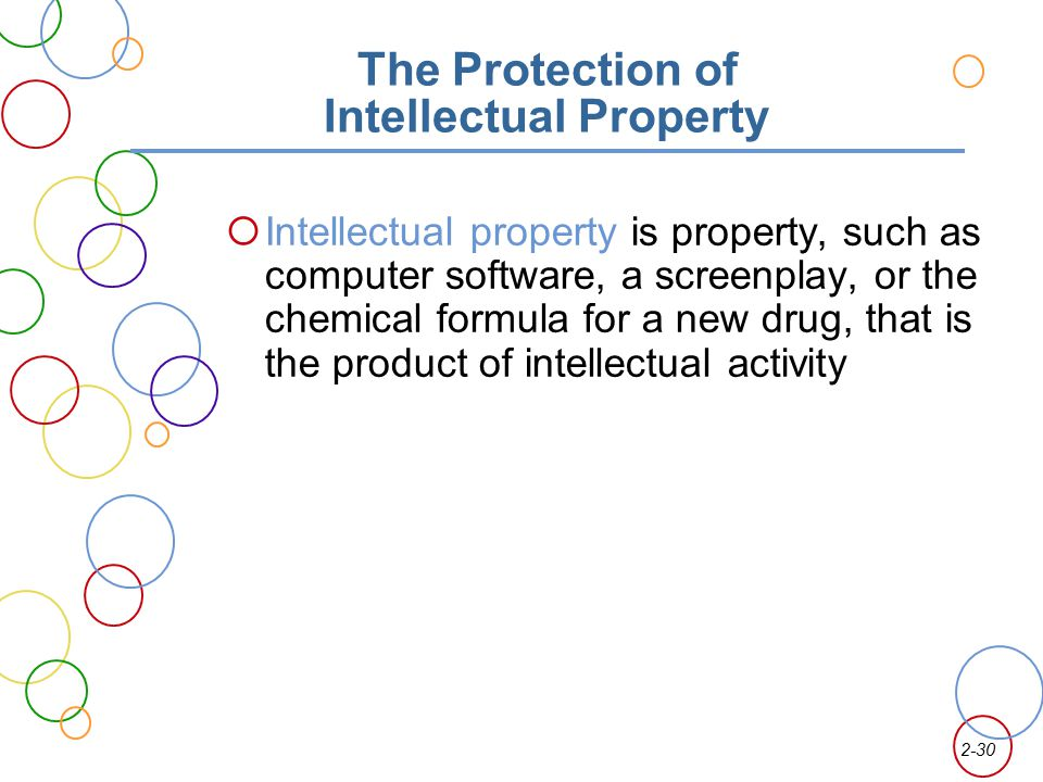 The Protection of Intellectual Property