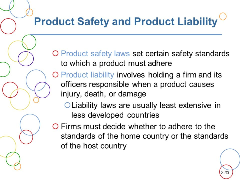 Product Safety and Product Liability