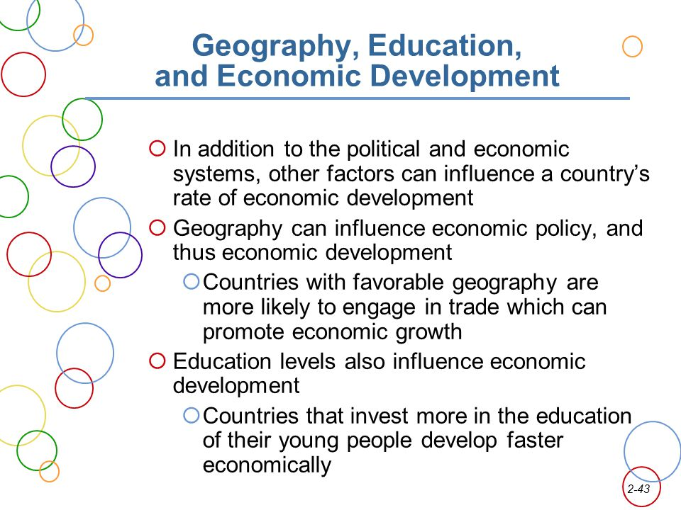 Geography, Education, and Economic Development
