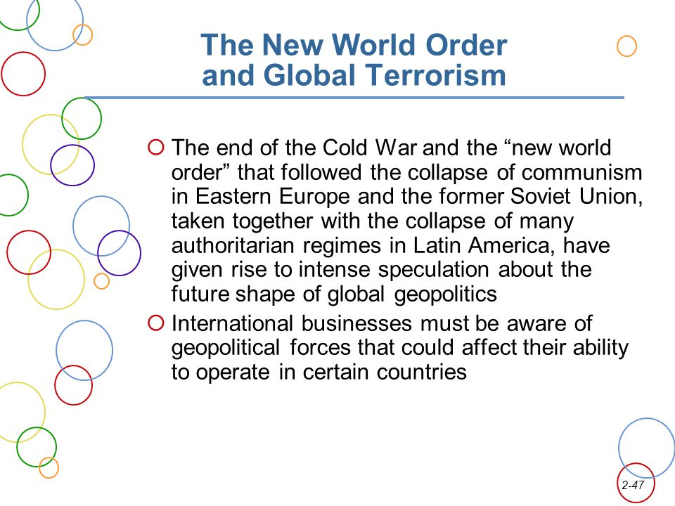 The New World Order and Global Terrorism