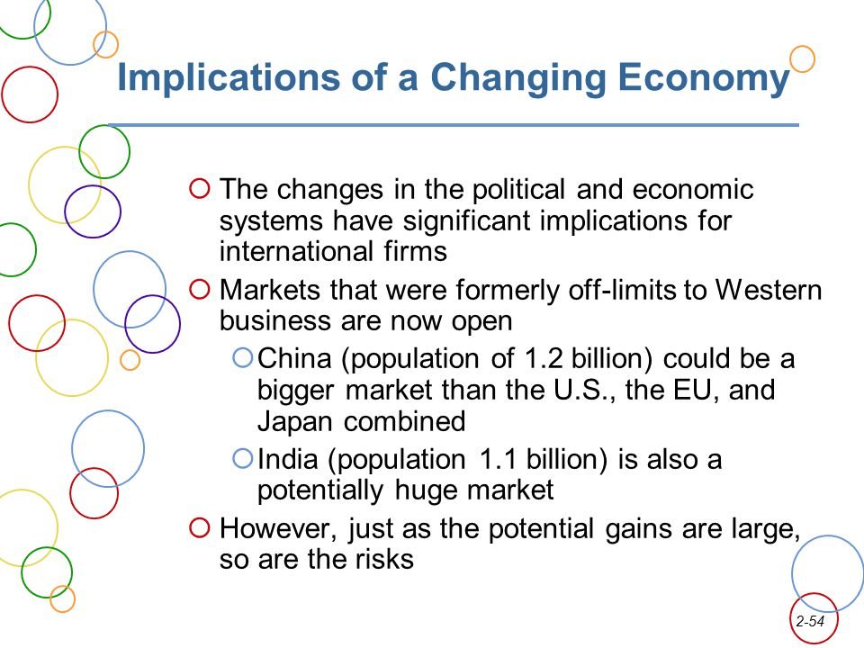 Implications of a Changing Economy