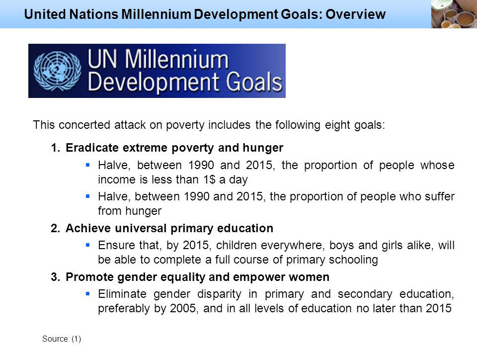 an overview of the un millennium development goal A critical evaluation of the un millennium development goals dr paul hopper future policy organisation summary the un millennium development goals (mdgs) facilitated some notable advances within international development.