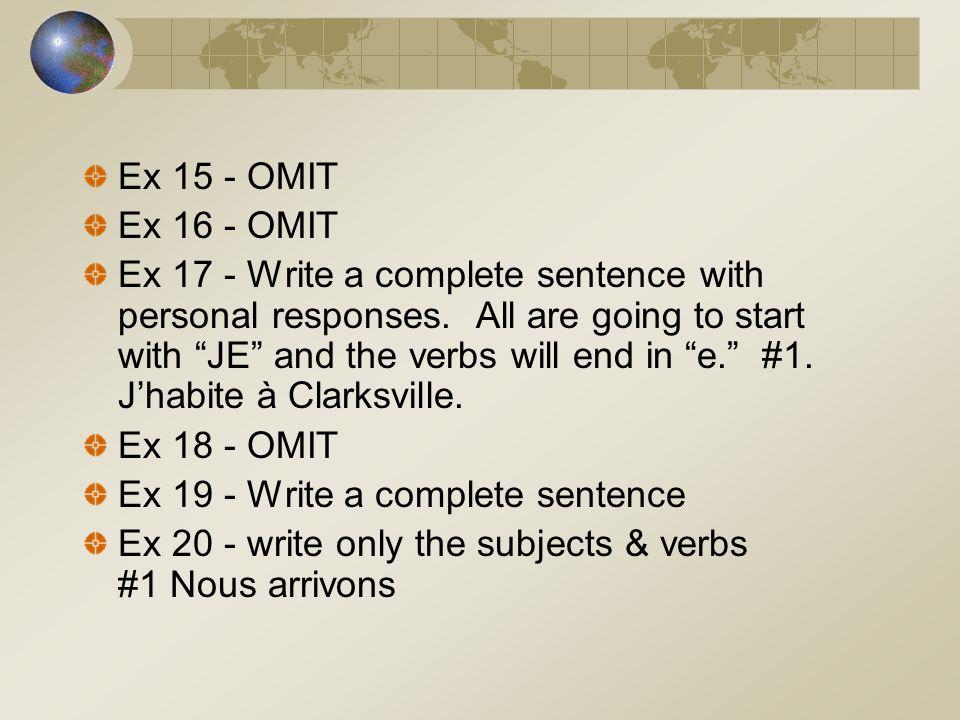 Ex 15 - OMITEx 16 - OMIT.