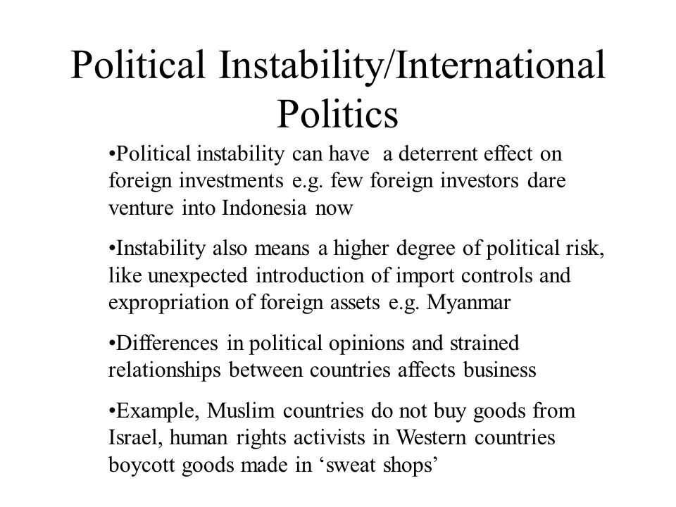 political instability and its effects on How instability affects kids by anna those are often precisely the resources that could have helped a family to minimize the negative effects of instability.