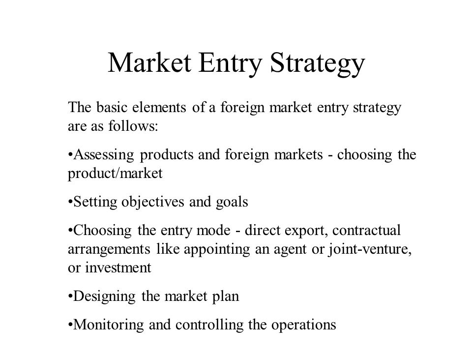 Choosing the Best Market Entry Strategy for Emerging Markets