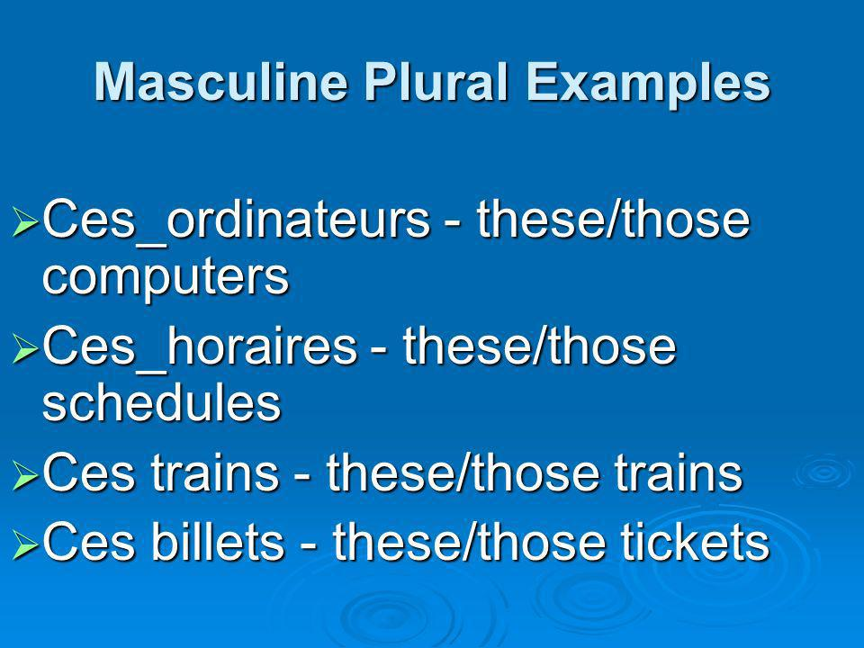 Masculine Plural Examples