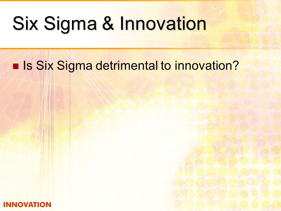 six sigma at 3m After wrestling with six sigma principles for just about every company activity under former ceo james mcnerney, 3m is largely abandoning it in research and development.