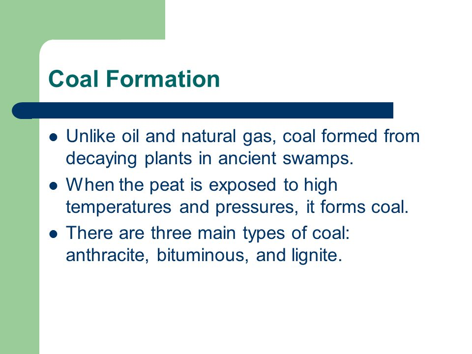 Coal Gas And Oil Are All Natural Forms Of This