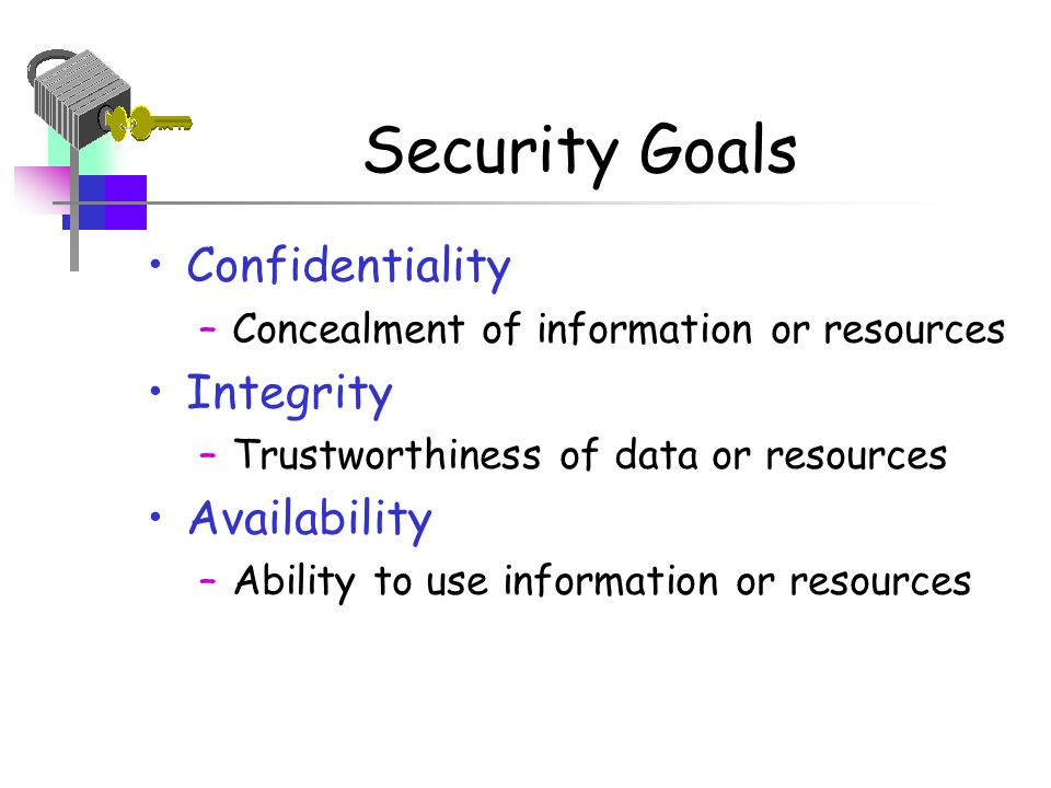 Mine, Threesome security confidentiality integrity availability