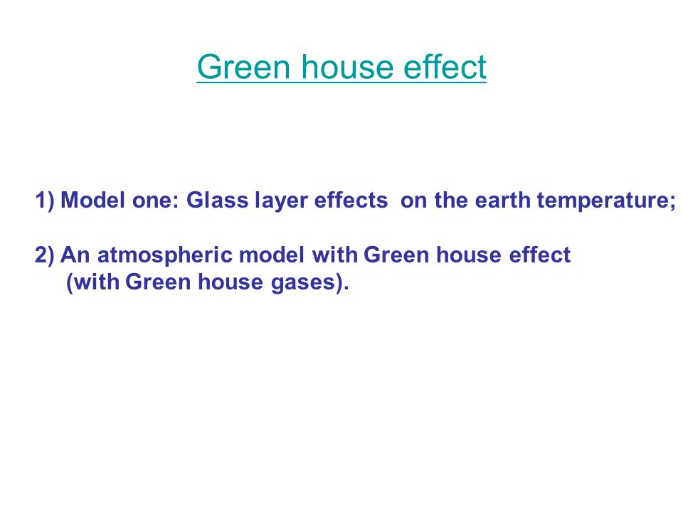 how to make a greenhouse effect model