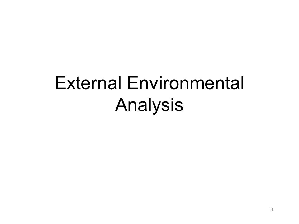 external environmental analysis Introduction the aim of this paper is to discuss the environmental analysis of coca-cola in today's business scenario most of the companies are astonished by the.