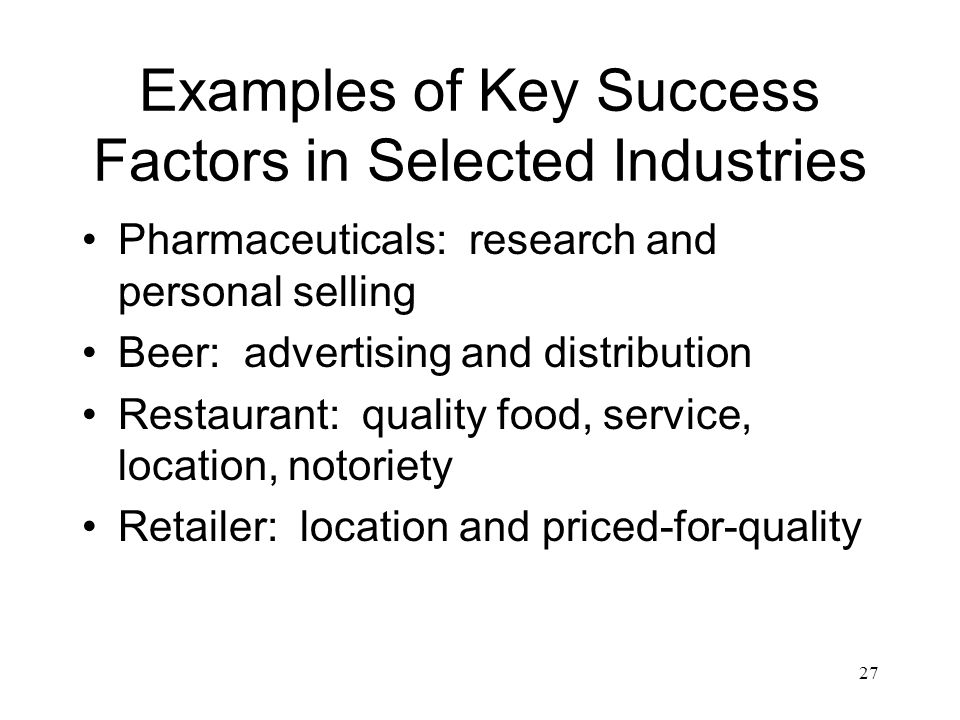 beer industry key success factors 2015, a 17% increase over 20141 the growth of the craft beer industry is not  only  fueling the cluster's success is california's overall economic improvement  over the last  environment at the state level and in san diego exhibits strong  factor  as key economic sector in the regional plan, which will align resources to .