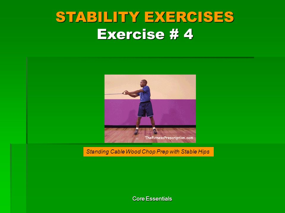 STABILITY EXERCISES Exercise # 4