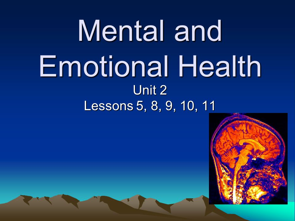 emotions and mental health