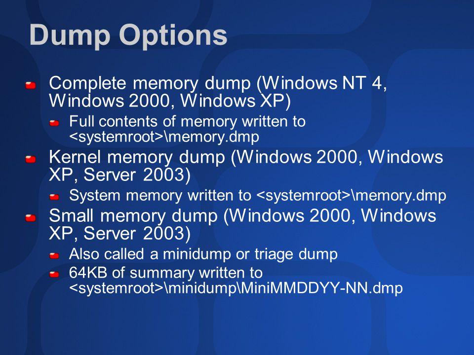 how to delete memory dumps window 10