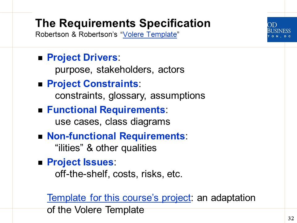 non functional requirements template - business analysis data design itec 630 fall ppt video