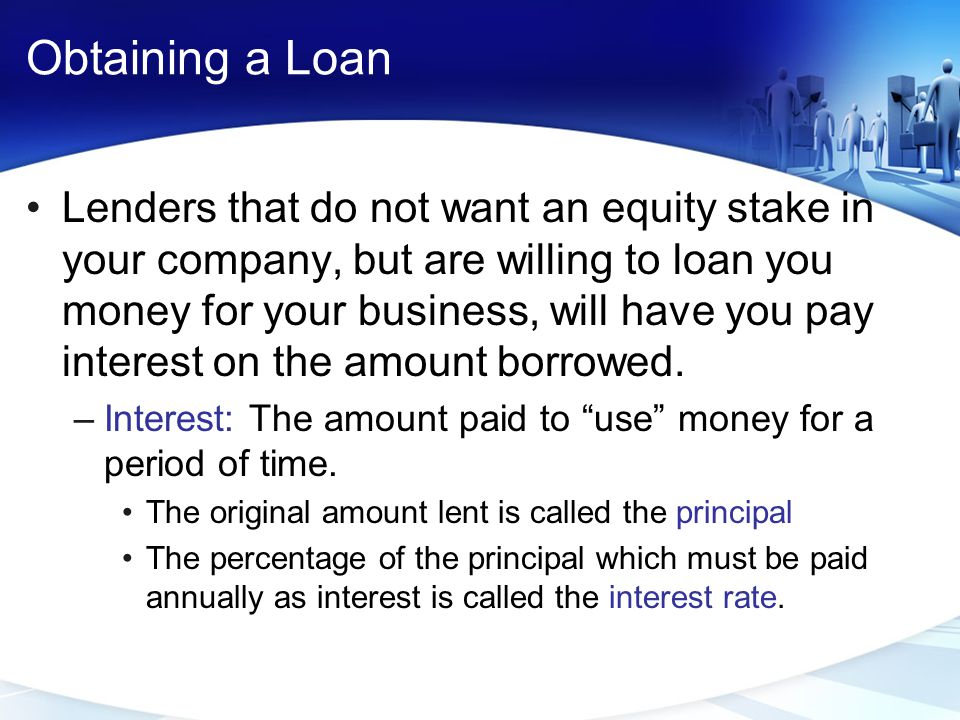 Obtaining a Loan