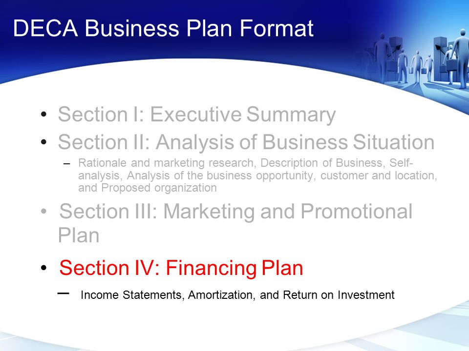 DECA Business Plan Format