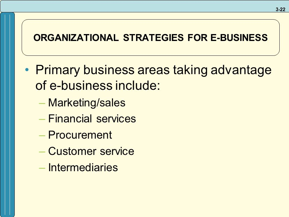 ORGANIZATIONAL STRATEGIES FOR E-BUSINESS